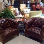 hayes tufted leather chair