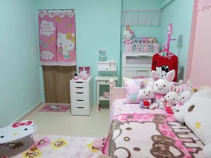 Image of: Hello Kitty Room Decorate