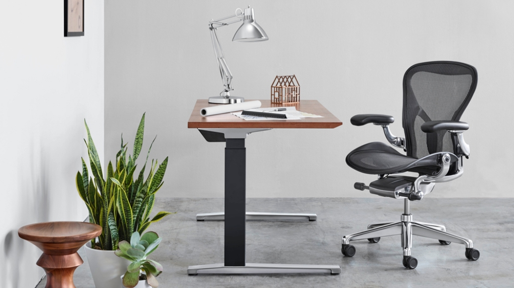 Image of: herman miller office chairs black and white