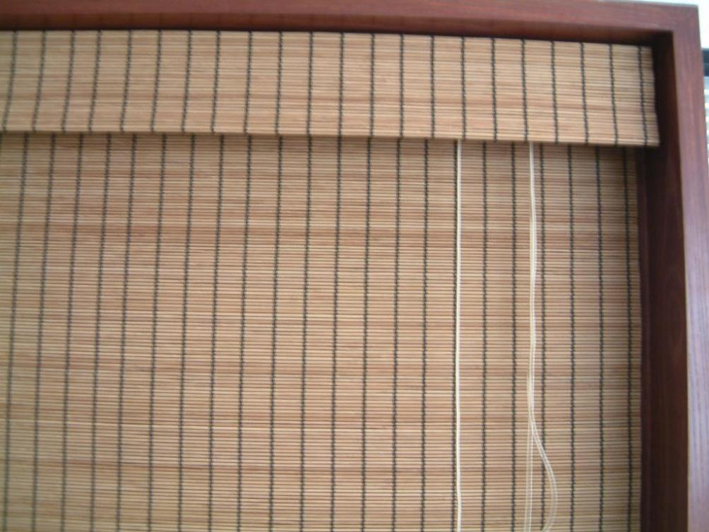 Image of: Home Depot Bamboo Roman Shades