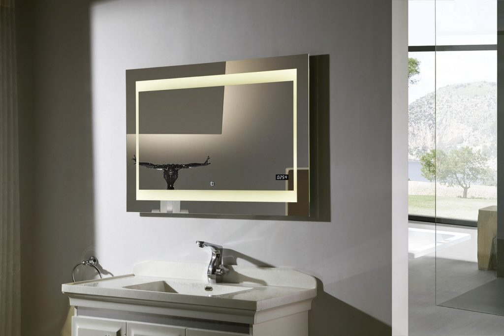 Image of: Hotel Wall Mounted Makeup Mirror