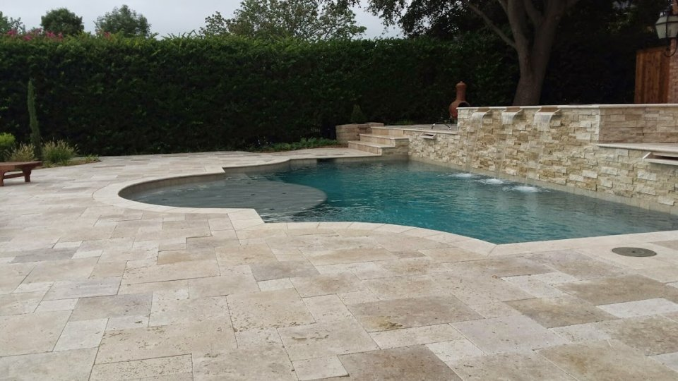 How Much Does a Travertine Pool Deck Cost
