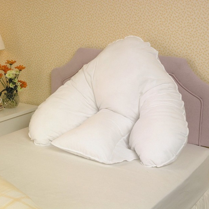 Image of: How To Stack Pillows To Sit Up In Bed