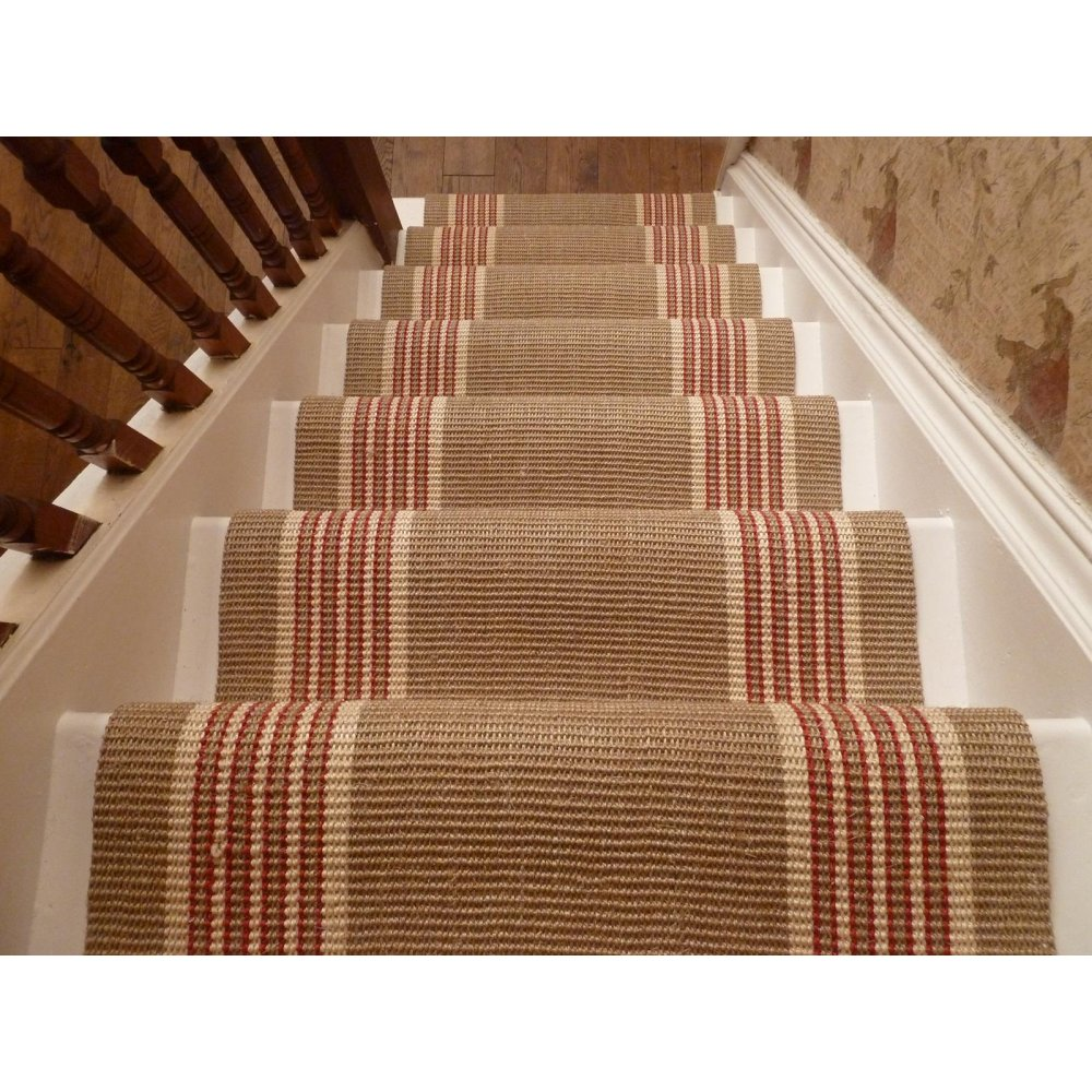 Image of: ideas carpet runners for stairs