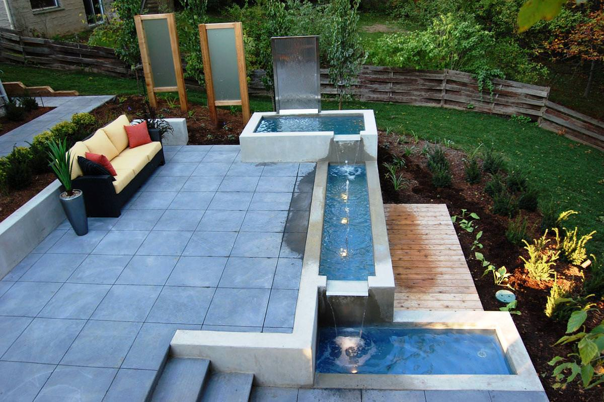 Image of: Ideas Modern Outdoor Water Fountains