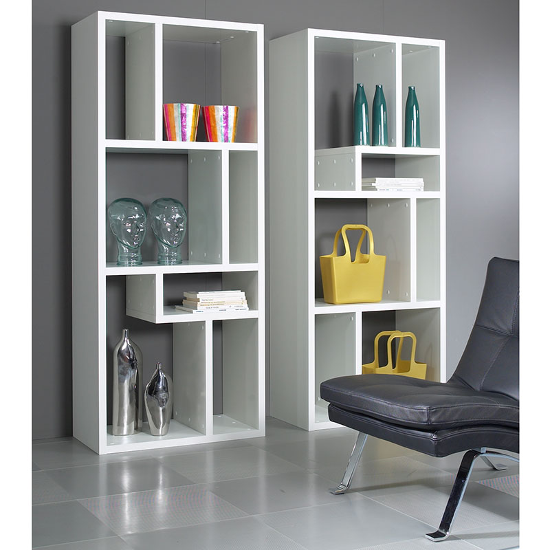 Image of: Ideas Modern White Bookcase