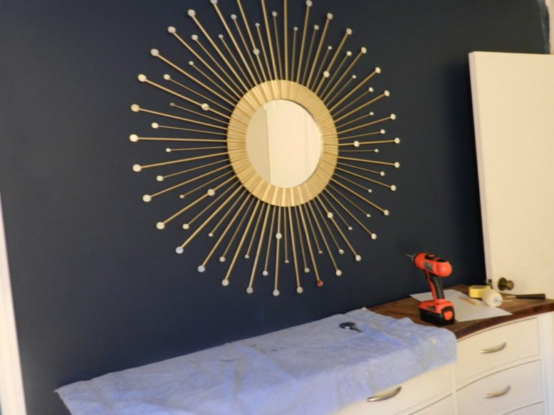 Image of: Ideas Sunburst Wall Mirror