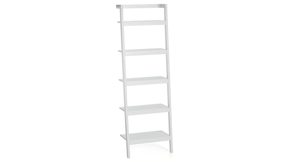 Ideas White Ladder Bookcase