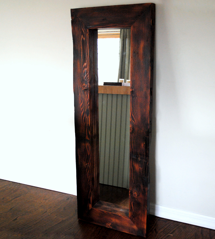 Image of: Ideas Wood Frame Full Length Mirror