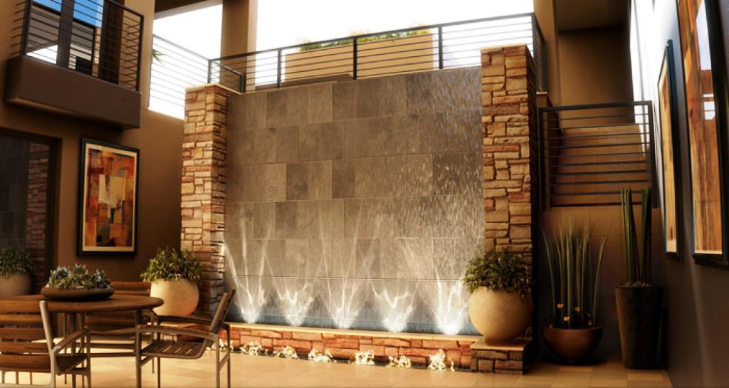 Image of: Indoor Wall Fountains Horizontal