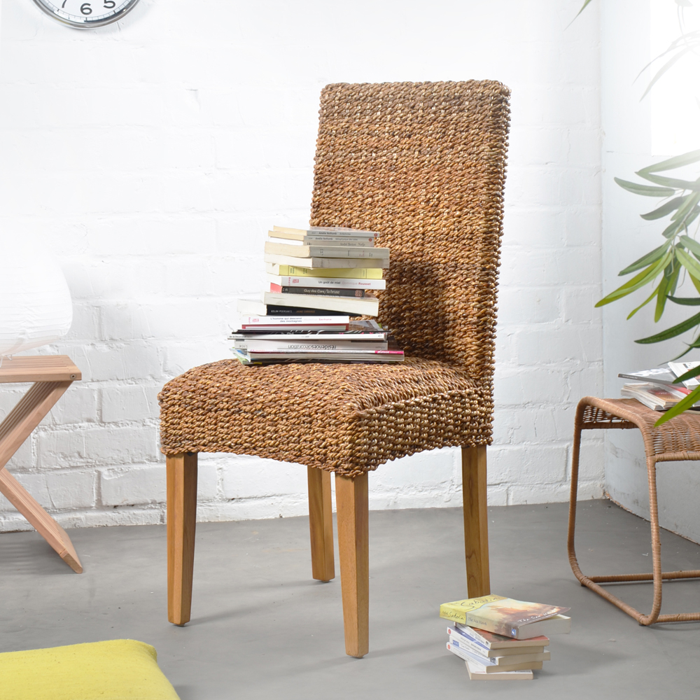 Image of: indoor wicker dining chairs