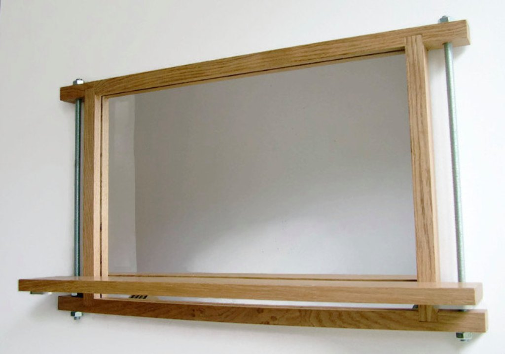 Image of: Industrial Wall Mirror Adhesive