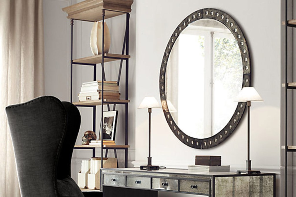 Image of: Industrial Wall Mirror Removal