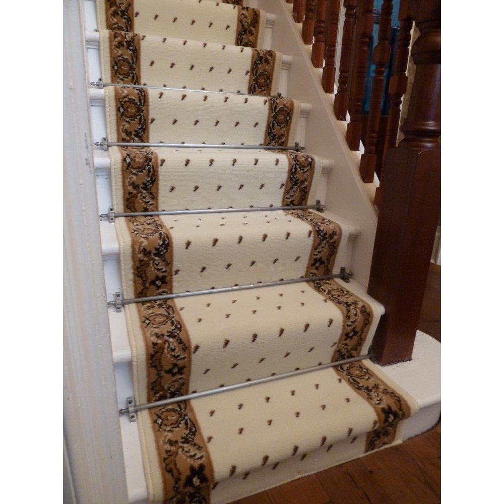 Image of: installing carpet runners for stairs