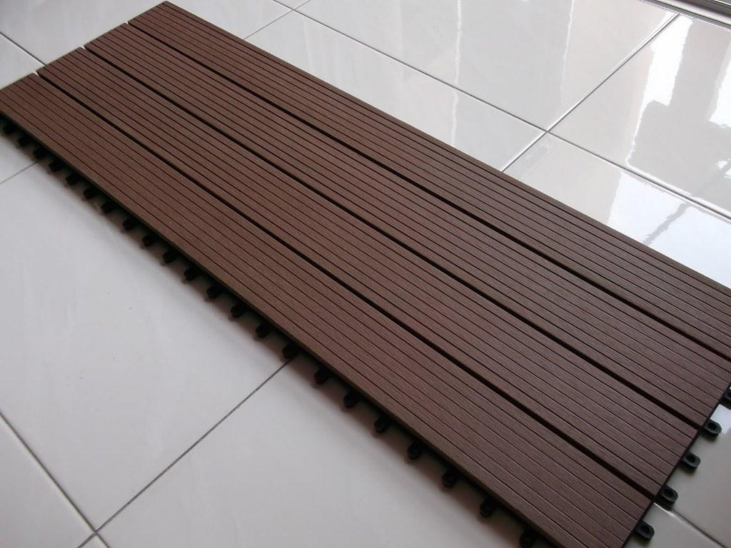 Image of: Interlocking Wood Deck Tiles Colors