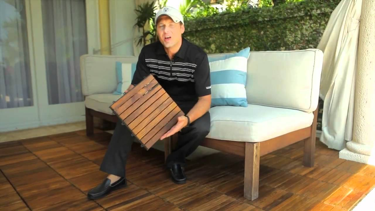 Image of: Interlocking Wood Deck Tiles Guide