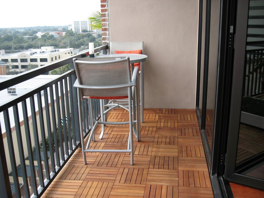 Image of: Interlocking Wood Deck Tiles
