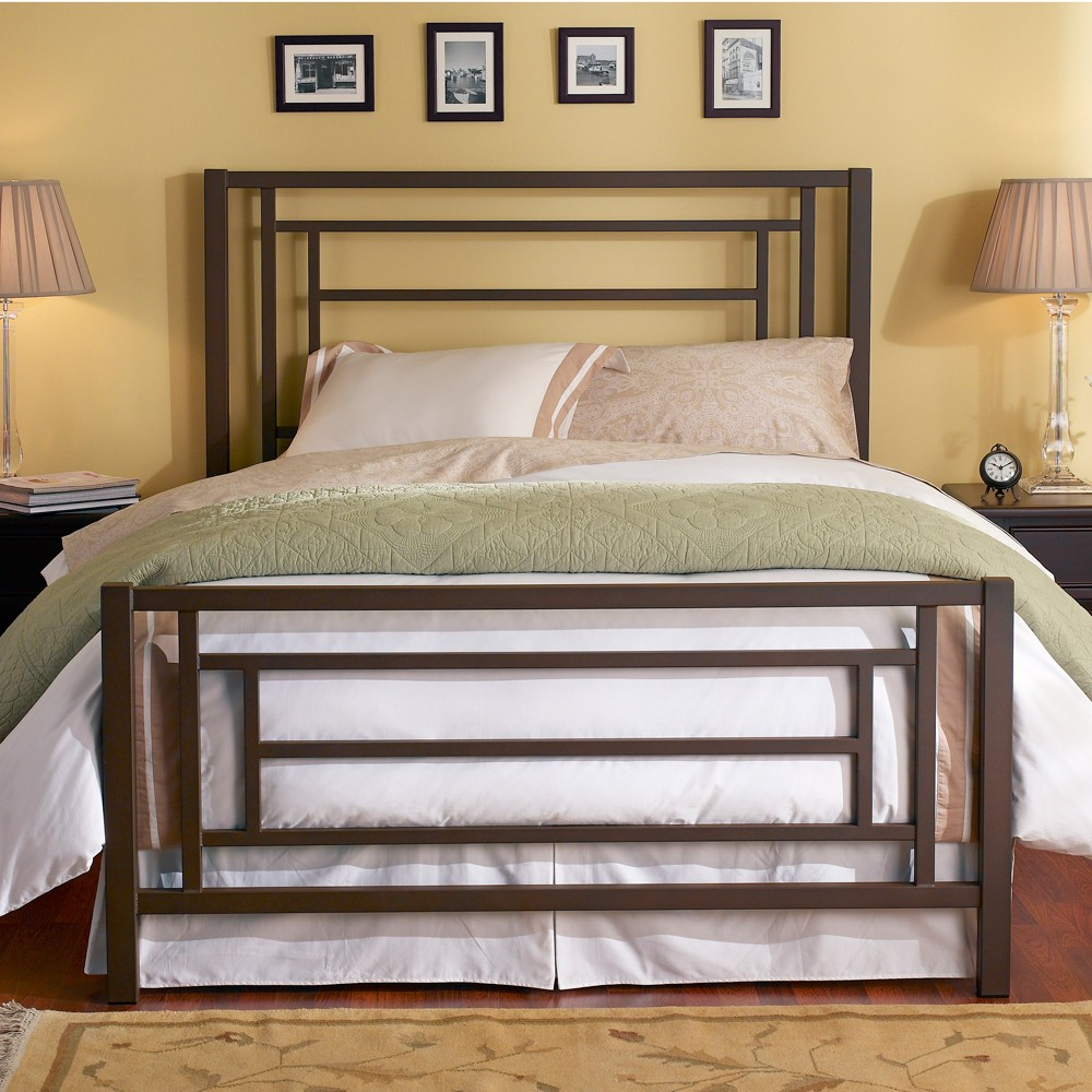 Image of: Iron Bed Frame Double