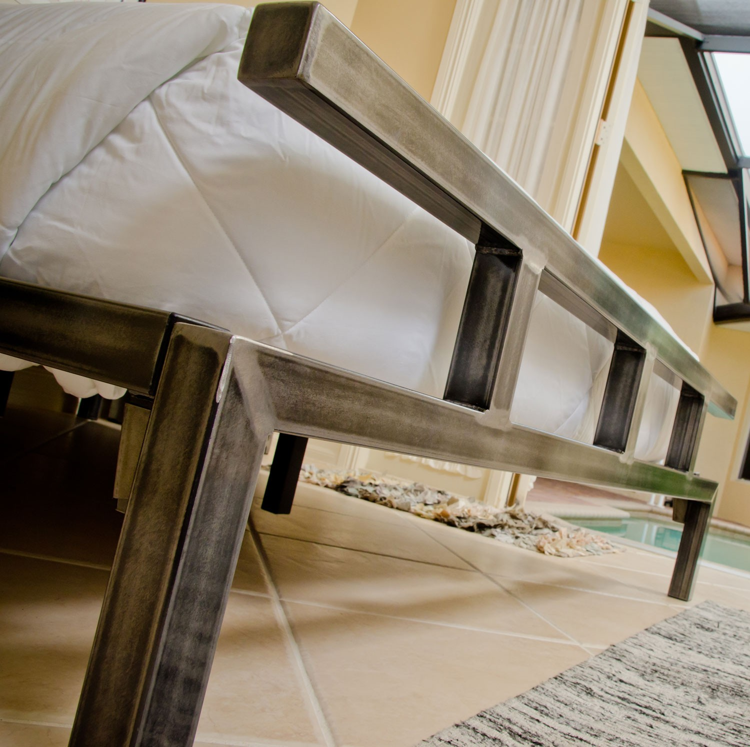 Image of: Iron Bed Frame Nz