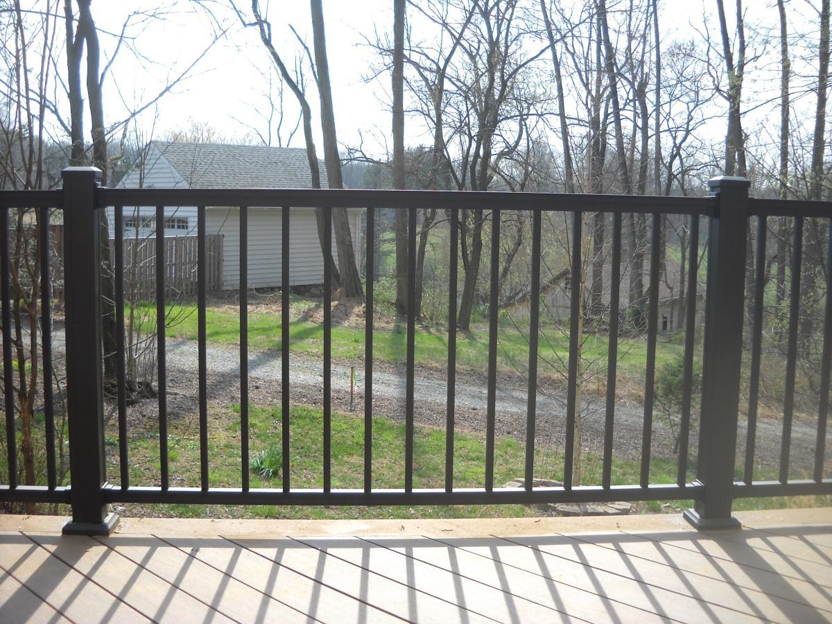 Image of: Iron Deck Railing
