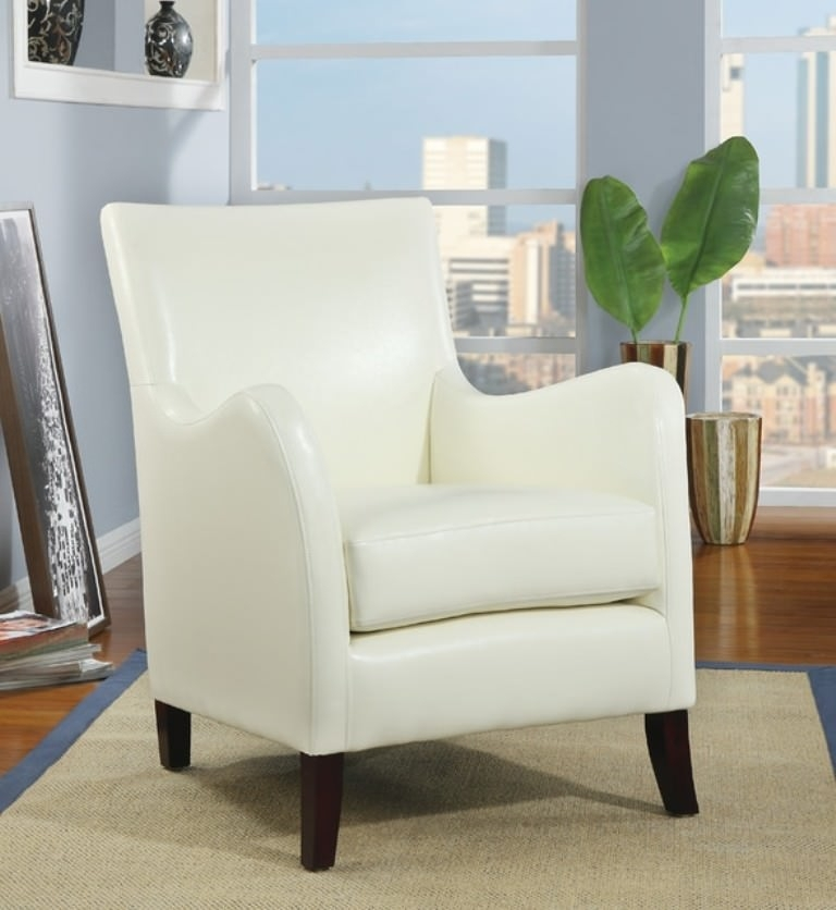 Image of: Ivory Colored Accent Chairs