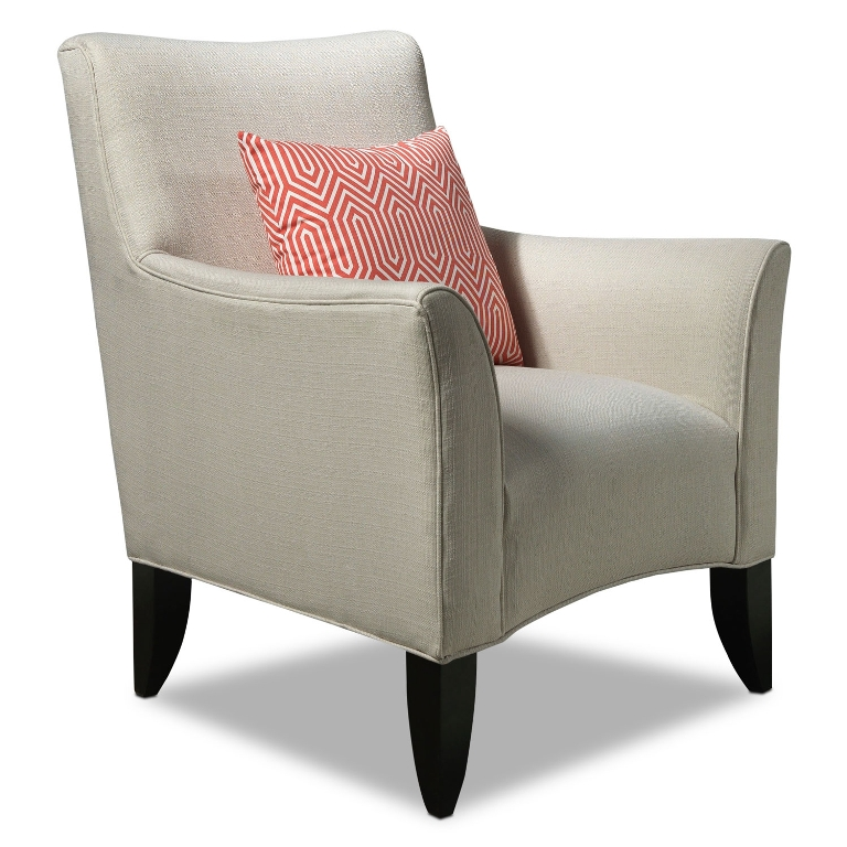 Image of: Ivory Leather Accent Chairs
