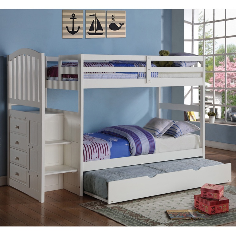 Image of: Kids Bed With Trundle For Best