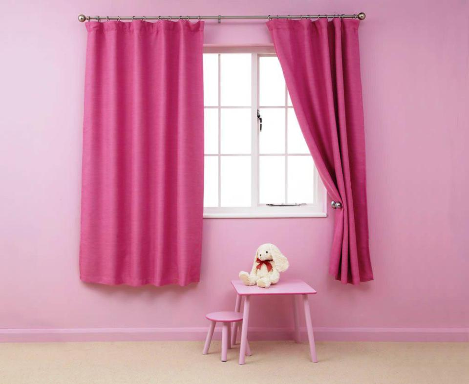 Image of: Kids Pink Blackout Curtains