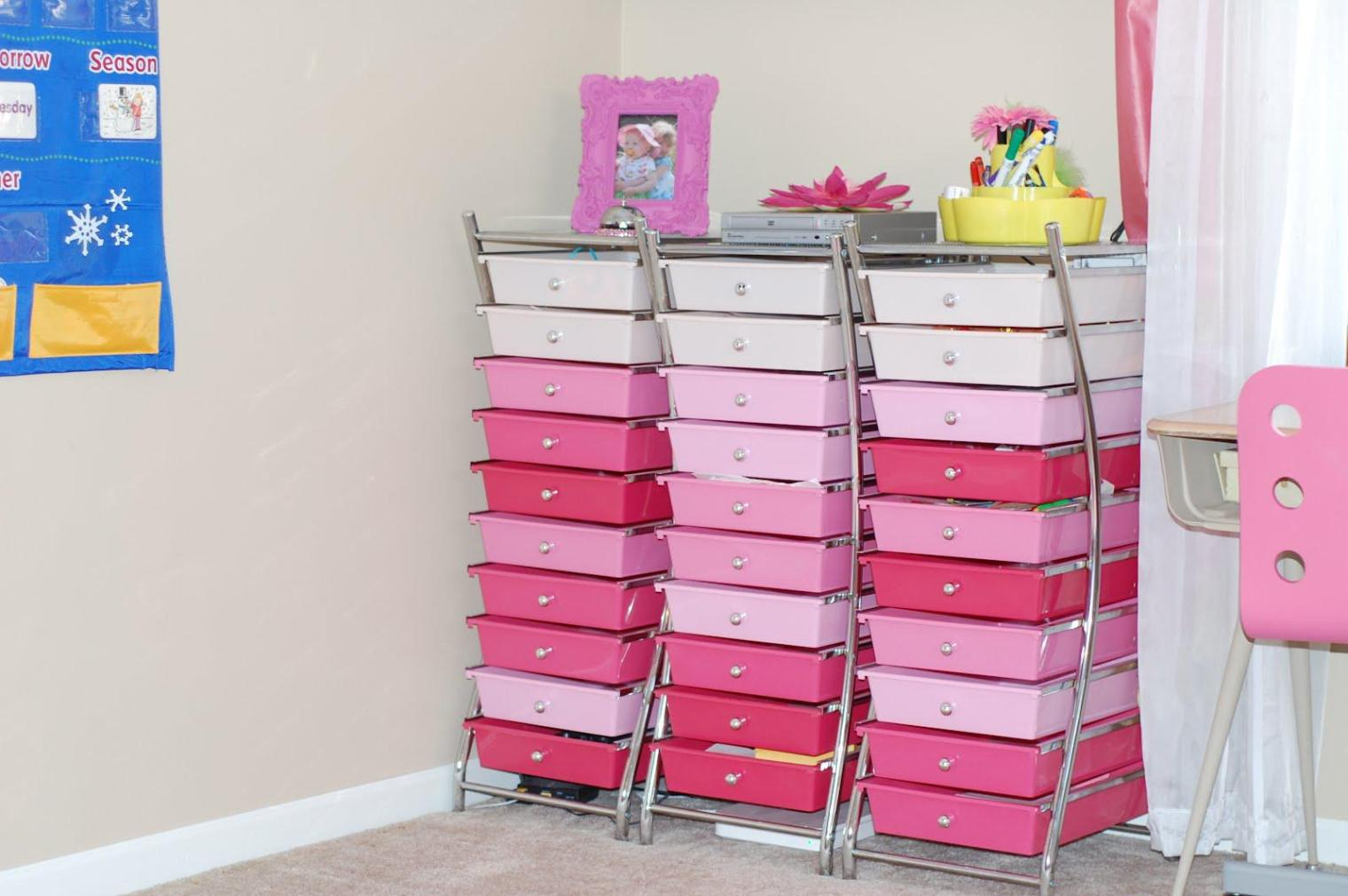 Image of: Kids Rolling Carts With Drawers