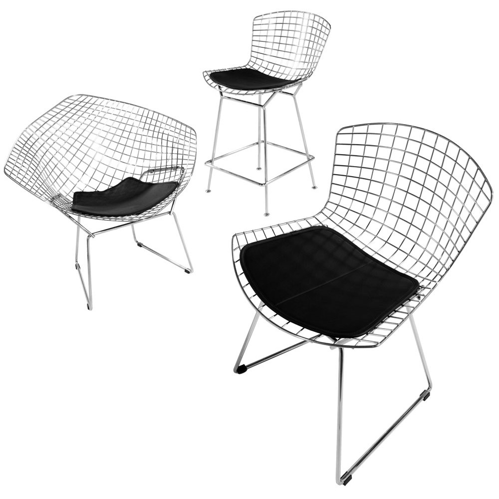 Image of: kind bertoia diamond chair