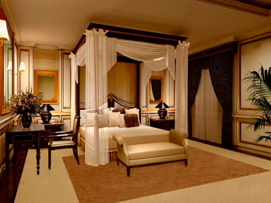 Image of: King Canopy Bedroom Sets Curtains