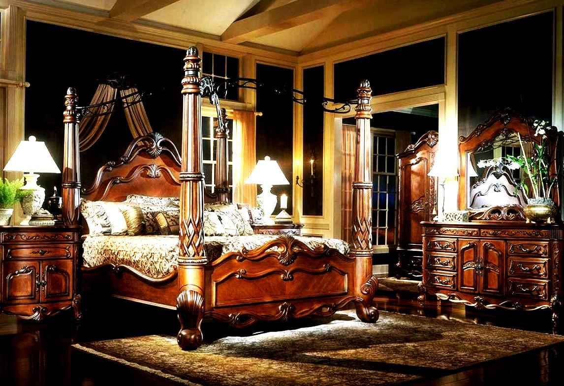 Image of: King Canopy Bedroom Sets