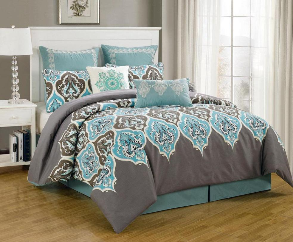 Image of: King Quilt Sets Blue