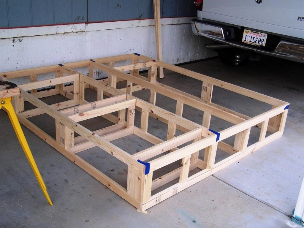 Image of: king size platform bed frame plans