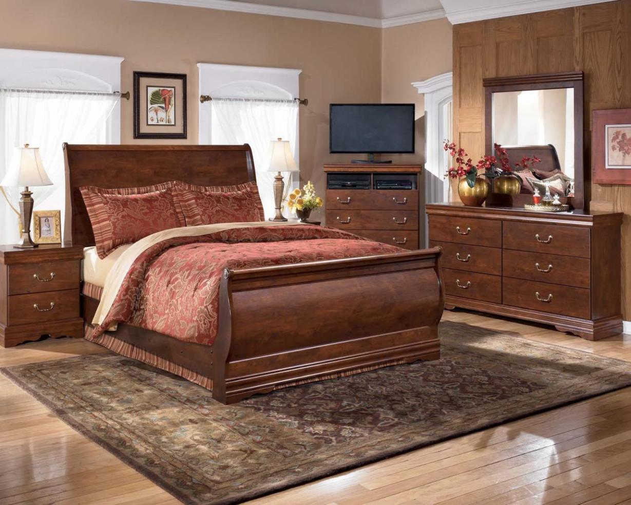 Image of: King Sleigh Bed