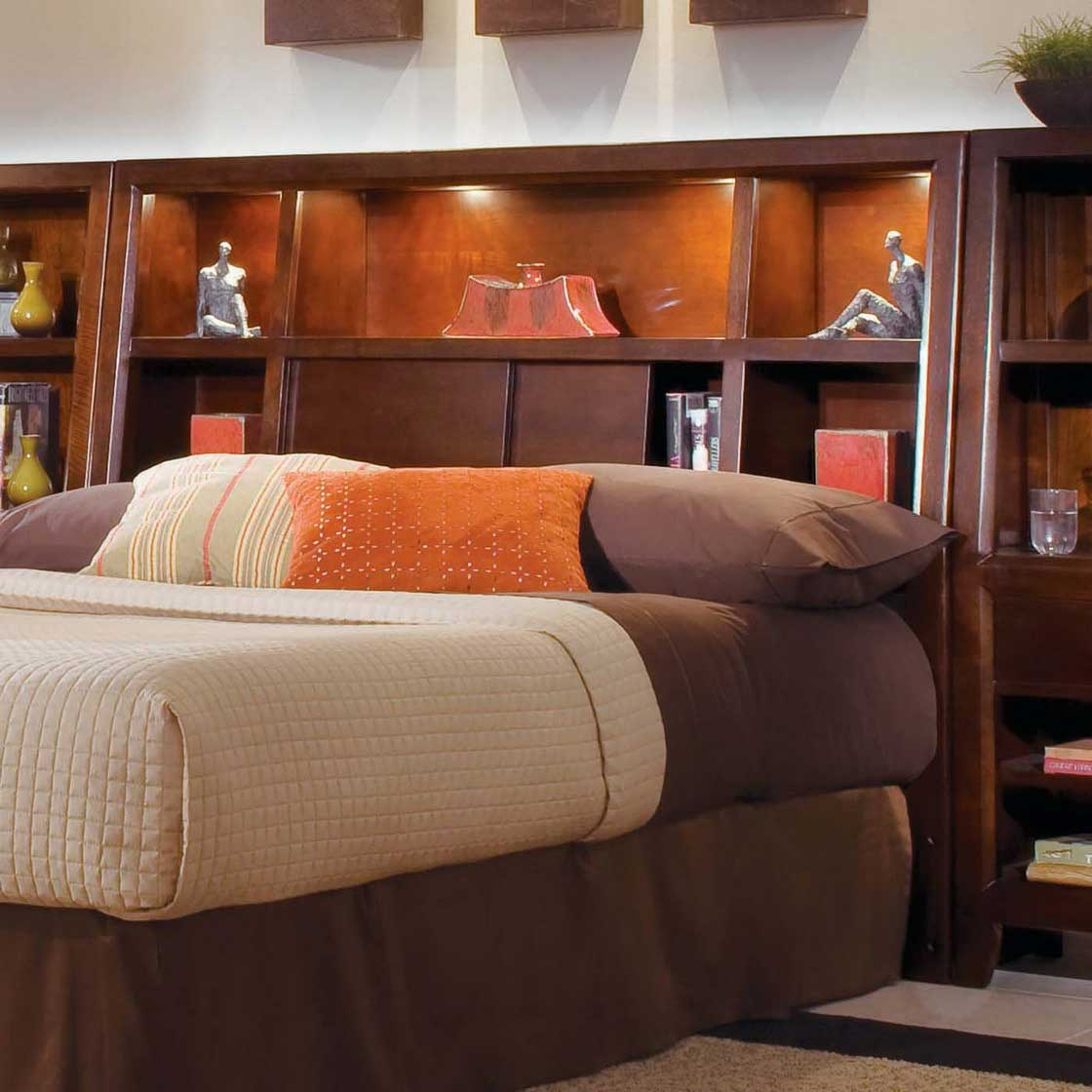 Image of: King bookcase headboard Bookcase Headboards for Queen Beds