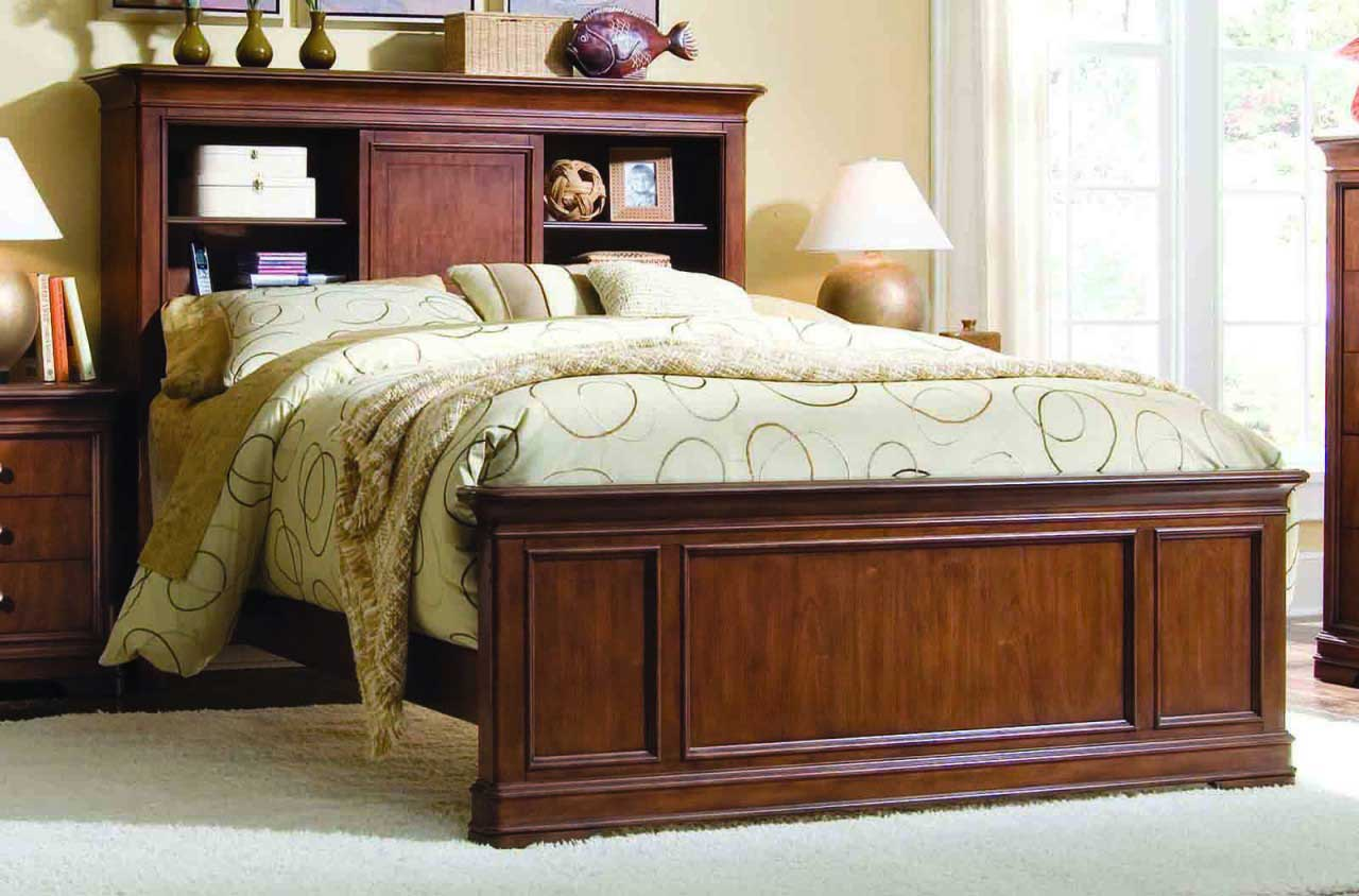 Image of: King bookcase headboard King Size best
