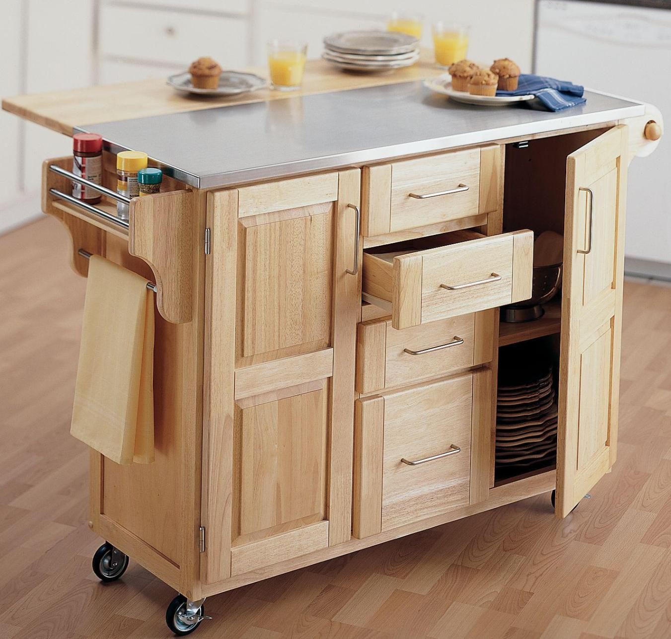 Image of: Kitchen Rolling Cart With Drawers