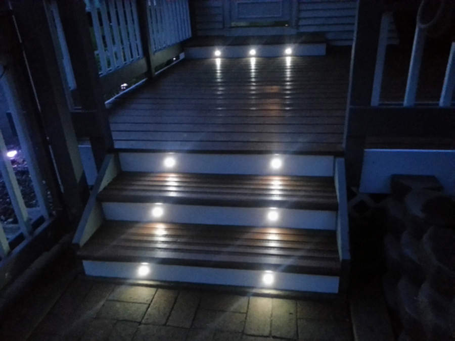 Image of: LED Deck Stair Lights