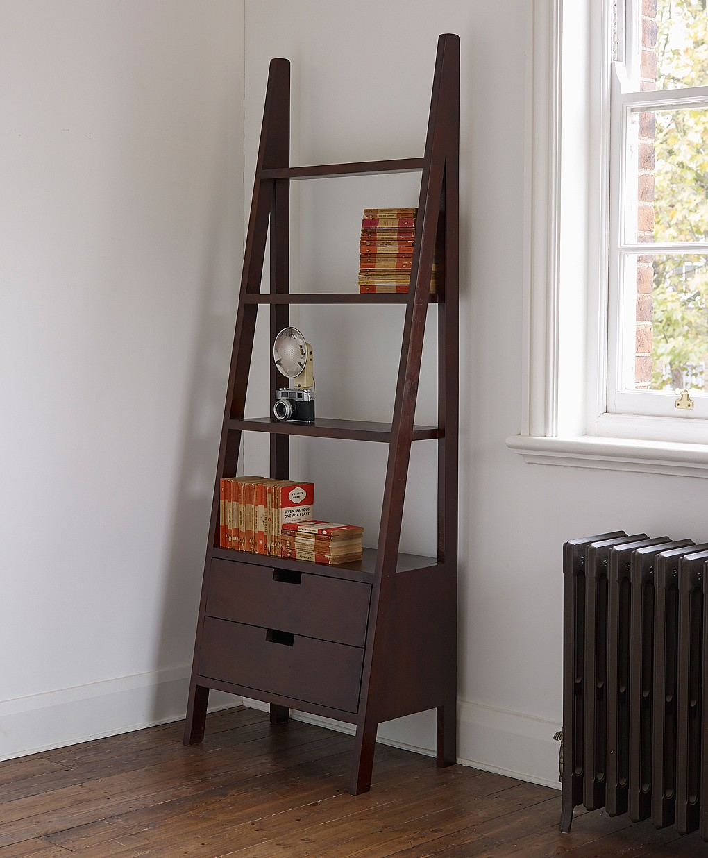 Ladder Bookcase with Drawers