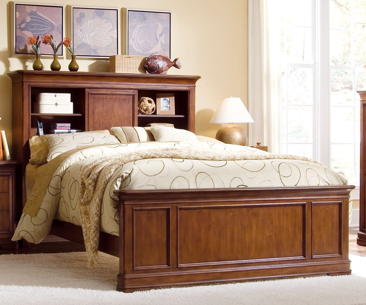 Image of: Large Bookcase Headboard Queen