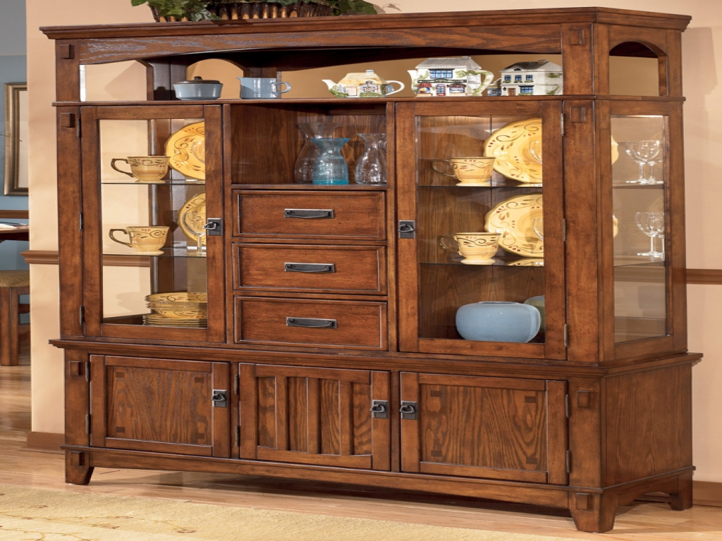 Image of: large china cabinets and hutches design