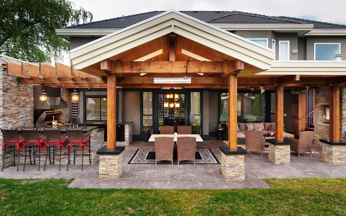 Image of: Large Covered Deck Designs