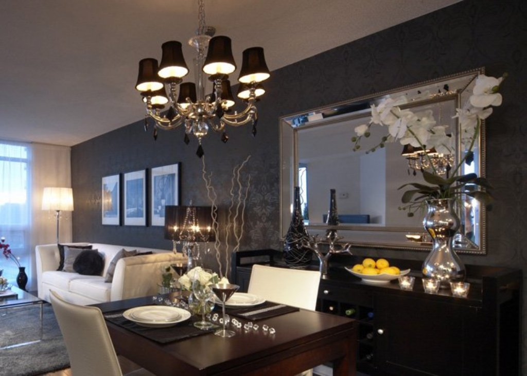 Image of: Large Decorative Wall Mirrors in Oil Rubbed Bronze