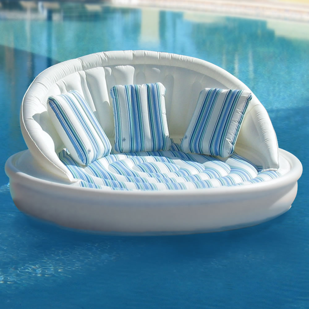 Image of: large floating pool chairs