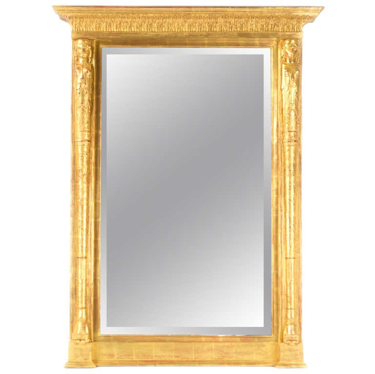Image of: Large Framed Mirrors Oak