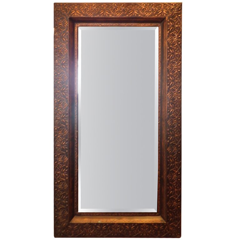 Image of: Large Framed Mirrors Solid Wood