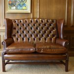 large leather wingback chair