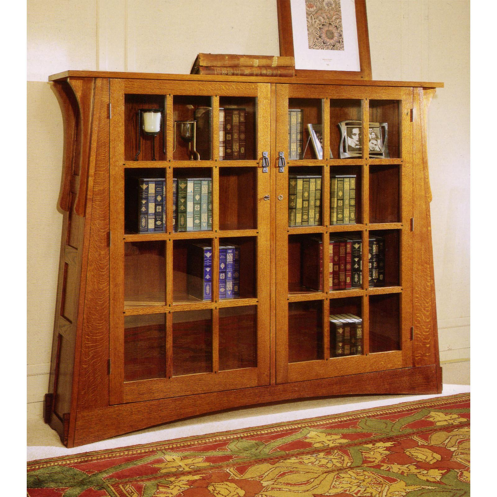 Large Mission Style Bookcase
