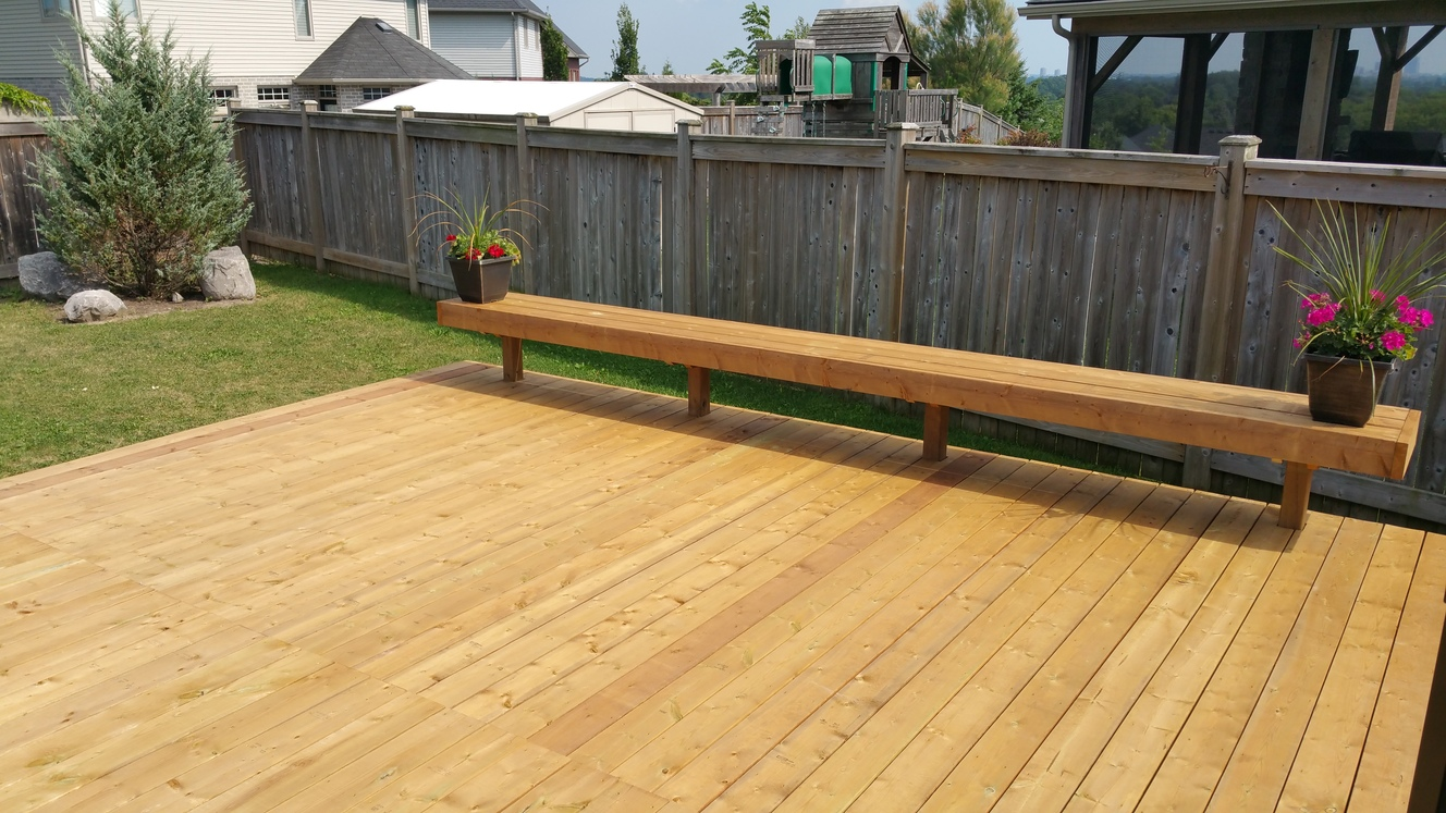 Large Pressure Treated Decking